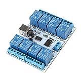 Controlador de módulo de placa de relé USB tipo B de 8 canales DC para robótica de auto...