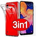 PROTOTEL 2X Panzerglas + Hülle Samsung Galaxy A10 / M10 Schutzfolie. Bildschirmschutzfolie 9H Hartglas und Silikonhülle transparent Panzerfolie für Bildschirmschutz A10/M10