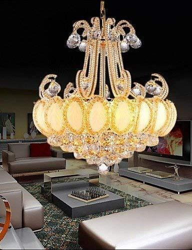 The only good quality interieur moderne kandelaar van glas LED diameter hanglamp 50 cm bevat 8 LED-lampen wit 220-240 V