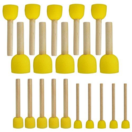 20 Stück runde Schwämme Pinsel-Set Kinder Malwerkzeuge – Pistha Schwamm Malerei Stippler Set DIY Malwerkzeuge in 4 Größen für Kinder