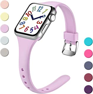 Henva Fashionable Band Compatible with iWatch 40mm 38mm, Waterproof Soft Band Compatible for Apple Watch Series 5/4/3/2/1, Lavender, S/M
