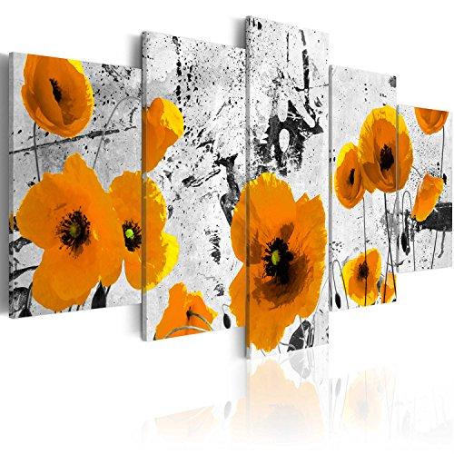 murando Cuadro en Lienzo Amapolas 200x100 cm Flores Impresión de 5 Piezas Material...