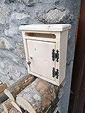 Cassetta Postale porta lettere da esterno in legno di Abete misure L26 x P10 x H32, prodotto per Découpage neutro o trattato con impregnante Vari Colori a scelta