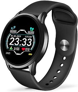 KYLN Reloj Inteligente Reloj de Fitness para Hombre Monitor de presión Arterial con frecuencia cardíaca Reloj Inteligente Reloj Deportivo Resistente al Agua Mujer