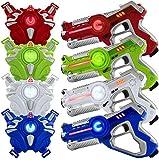 Play22 Laser Tag Sets Gun Vest - Infrared Laser Tag Set 4 Guns 4 Vests...