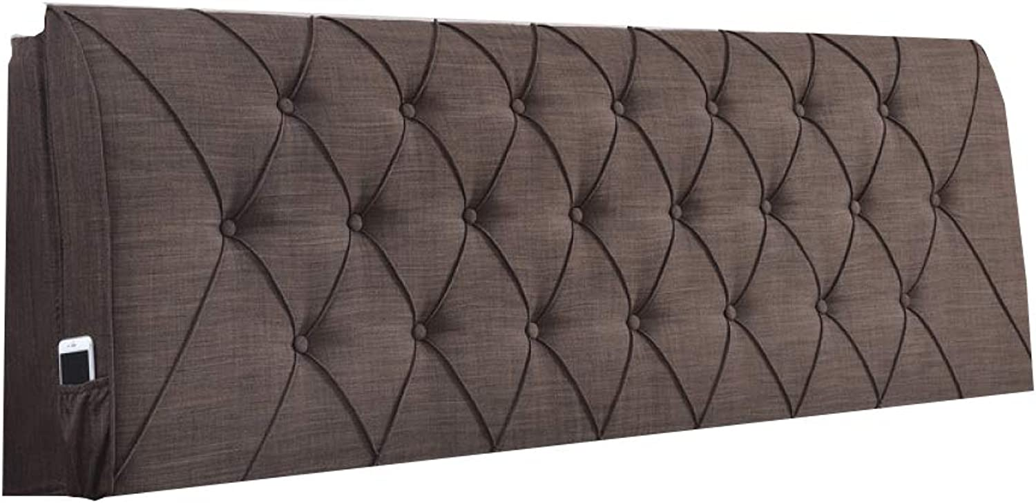 HOMDREAM Stylish Cube 6FT King Size Grey Headboard Finished In A Cotton Linen Fabric - Available In Range Of 4 Colour And 4 Sizes,D-6FT