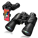 MIDALE Binoculars with Phone Adapter, Clear Low Light Vision, Large Eyepiece, High Power Waterproof and Easy Focus Binoculars for Adults, Bird Watching, Hunting