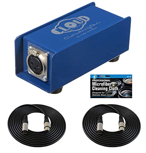 Cloud Microphones Cloudlifter CL-1 Mic Activator + Extra Two (2) XLR Cables Bundle