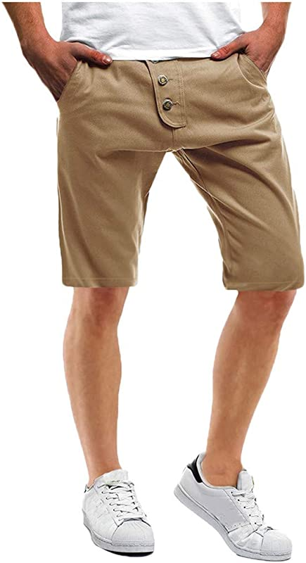 RoDeke Men S Summer Outdoor Button Design Shorts Quick Dry Cargo Casual Hiking Short With Multi Pocket