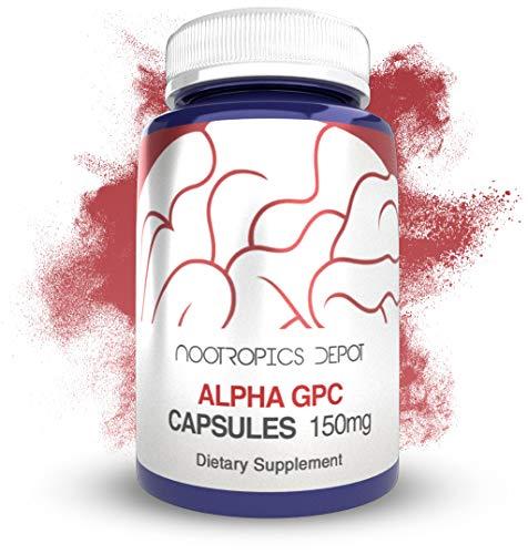 Alpha GPC Capsules   150mg   60 Count   Choline Supplement   Brain Health Supplement   Supports Healthy Brain Function   Enhance Cognition, Memory + Focus