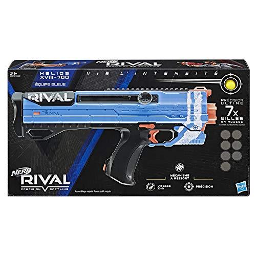 Nerf Helios Azul XVIII – 700 y Bolas de Espuma Rival Oficiales, Color Kronos Bleu (Hasbro E3379FC4)