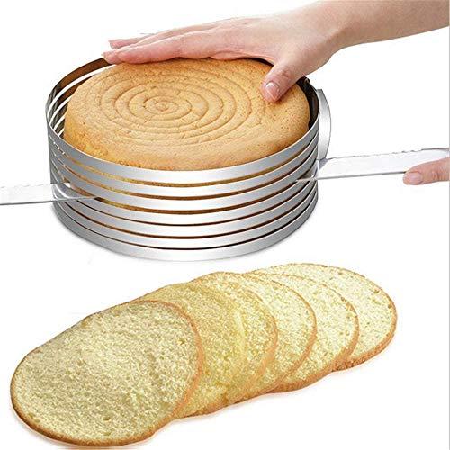 Edelstahl-Kuchenringschneider, einziehbares rundes Backwerkzeug, Mousse-Form, zum Selberbacken