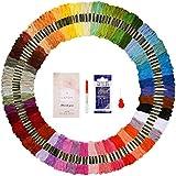 LETION 144 Matassine Punto Croce Colori Arcobaleno Filo da Ricamo per Braccialetti Anelli per Capelli Bottiglie di Vetro (48 colore)