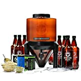 BrewDemon Craft Beer Brewing Kit Extra with Bottles - Conical Fermenter Eliminates Sediment and...