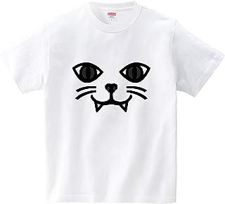 ねこフェイス(Tシャツ?ホワイト) (犬田猫三郎)