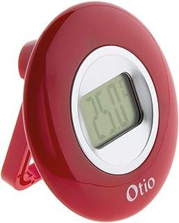 Thermomètre intérieur à écran LCD - Rouge - Otio