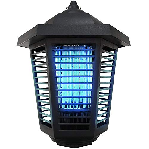 Pestnot Bug Zapper Electric Mosquito Killer - Bug Zapper Outdoor & Indoor with IP24 Water Resistance & Dedicated Atrractant Space. Upgraded 2020 360 UVA Bulb. Mosquito Zapper (20W) (BZ1a-2020)
