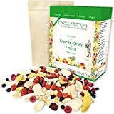 Freeze Dried Fruit: 9 Delicious Fruits Strawberry, Blueberry, Raspberry & More. 2.5oz Large Bulk Re-Sealable Kraft Bag in Protective Box: the Ultimate Snack & Breakfast. Original Green Top Quality