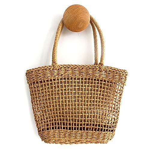 CuteLife Strohsack Hohl Straw Woven-Beutel-bewegliche Handtasche Art und Weise einfache, handgewebt...