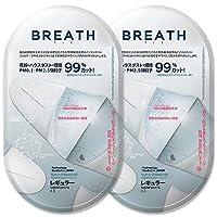 (2袋セット) 正規輸入品 マスク ブレスシルバー フィット レギュラー ブレスマスク ナノマスク 高機能マスク (BREATH SILVER FIT) 1袋3枚入 ホワイト