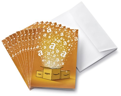 Tarjeta Regalo Amazon.es - €20 (Lote de 10 + tarjetas de felicitación)