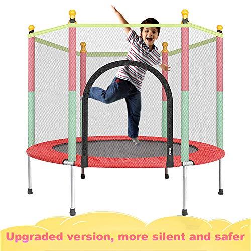 XTT Trampolin 140 cm mit Netz Outdoor Minitrampolin Extrem Leise Bungee Rebounder ist EIN Geräuschloses Qualitäts Indoor Stabiles Hüpfen Geeignet Voller Spaß