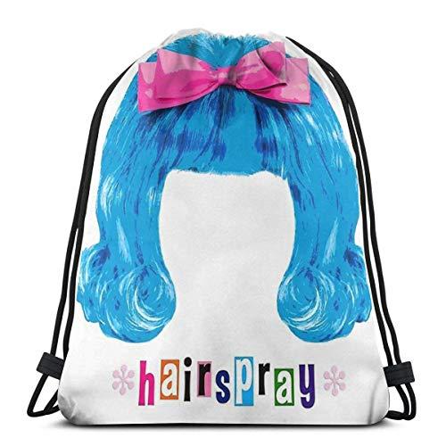 WH-CLA Drawstring Bags Haarspray The Musical Drawstring Bags Strandtasche Drawstring Rucksäcke Print Leichte Männer Aufbewahrung Cinch Bags Outdoor Lässige, Einzigartige Frauen Für Shoppi