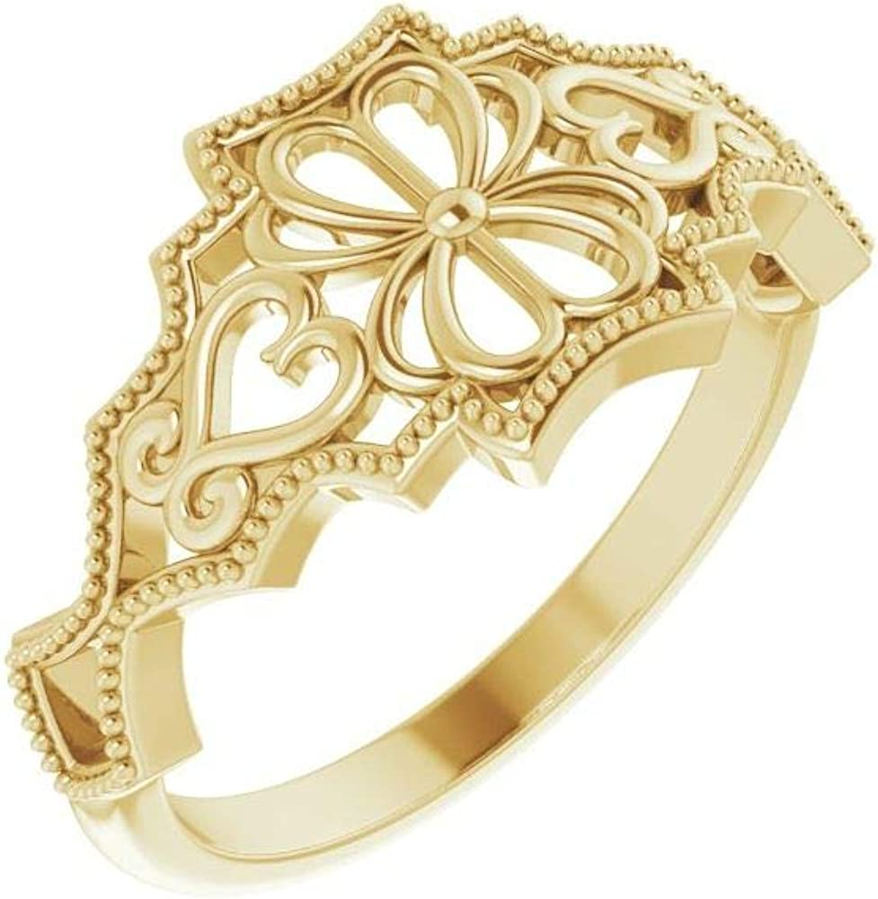 Vintage-Inspired Ring Band (Width = 6.4mm)