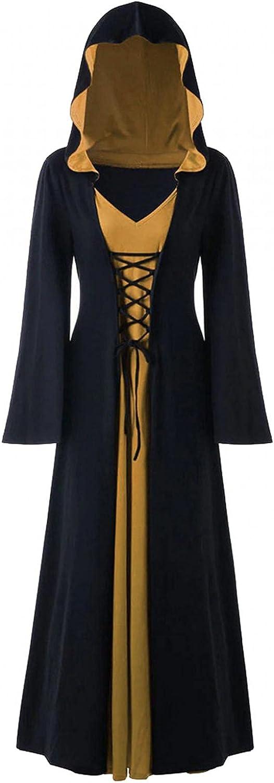GCETTIC Dress for Women,Women's Lattice Lace Up Maxi Dress Long