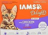 IAMS Delights Alimento Umido in Salsa Per Gattini con...
