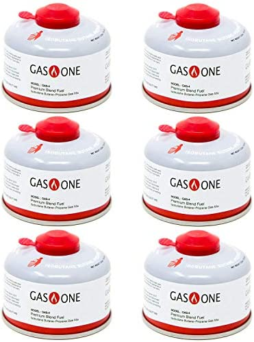 GasOne Camping Fuel Blend Isobutane Fuel Canister 100gram 6 Pack product image