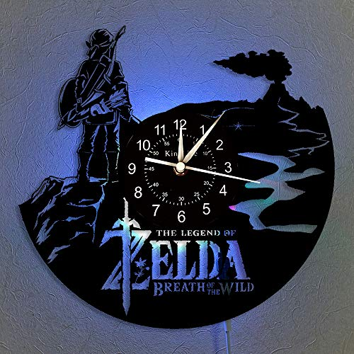 Cheemy Joint Die Legende von Zelda Schallplatte Wanduhr LED Light 12