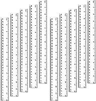 Utoolmart 定規 角度測定ツール 図用 測定図面 製図用 テンプレート 定規 組み合わせ 建築 手芸 絵画 生徒用測定ツール教師エンジニアホームオフィス倉庫 幾何定規測定ツール 定规15cm 3pcs