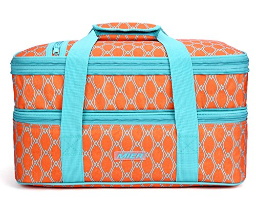 Insulated Double Casserole Carrier Thermal