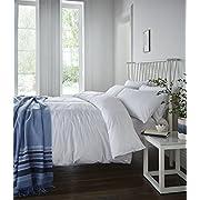 Catherine Lansfield Minimalist Easy Care Double Duvet Set White