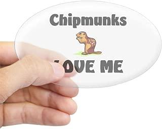 CafePress Chipmunks Love Me Oval Sticker Oval Bumper Sticker, Euro Oval Car Decal