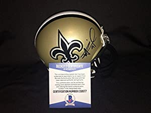 Alvin Kamara Signed Official New Orleans Saints Mini Helmet OROY Beckett - Autographed NFL Mini Helmets