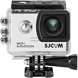 「SJCAM正規品」SJ5000X スポーツカメラ WiFi搭載 30m防水 170度広角レンズ  4K 1080P 液晶画面 HD動画対応 ハルメット式 バイクや自転車、カートや車に取り付け可能(ホワイト)