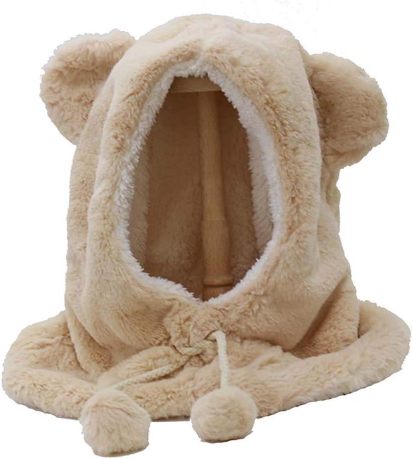 DRAGON SONIC Fur Animal Critter Hat Cap Scarf for Women, H2