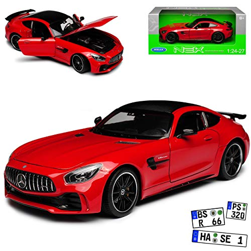 Mercedes-Benz AMG GT R Coupe Rot Ab 2014 1/24 Welly Modell Auto