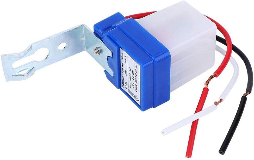2 Interruptores Control la Luz Sensor Foto Automático Exterior Control la Luz Sensor con Fotocélula Interruptor Luz Sensor Fotoswitch (AS-10A-220V)