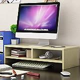 IGOSAIT Escritorio Monitor Riser Soporte Pantalla de Ordenador Vertical de Madera Estante Plinto Fuerte Laptop Stand Holder Escritorio for TV portátil Cabecera (Color : Black)