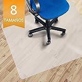 OfficeMarshal Alfombrilla Protectora - Estera para Silla de Oficina | Protector Suelo Semi-Transparente | Polipropileno | Varios tamaños (90x90 cm)