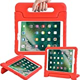 AVAWO Kids Case for iPad 9.7 2017/2018 & iPad Air 2 - Light Weight Shock Proof Convertible Handle Stand Friendly Kids Case for 9.7-inch iPad 5th & 6th Gen, iPad Air 1 & iPad Air 2 - Red