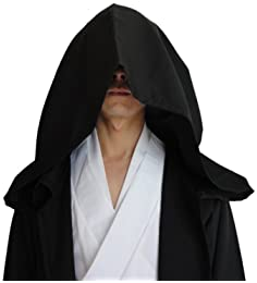 GOLDSTITCH Men Tunic Hooded Robe Cloak Knight Fancy Cool Cosplay Costume