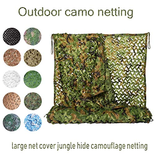 Red de camuflaje militar de 3 x 5 m, 10 x 16 pies, para acampada, solárium, tienda de campaña para coche, cobertor de carpa, bosque, jungla, ejército de camuflaje, camuflaje, 3x8m/10x26ft