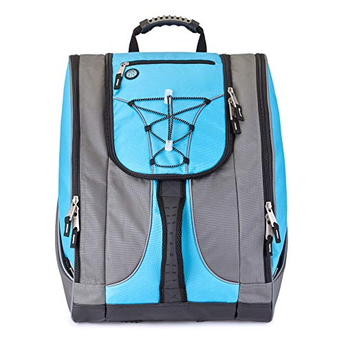 Athalon Bag and Backpack Snowboard - Holds Everything - (Ski Boots, Helmet, Goggles, Gloves), Teal/Gray, One Size