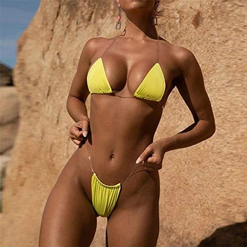 Strandkleding Vintage zwemkostuum, transparante tube top bikini, sexy string badpak, badmode Monokini badpak Zie bikini's