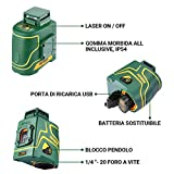 Immagine 2 livella laser verde popoman 1x360