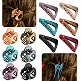 12 Pieces Hair Clips Set, French Triangle Claw Matte Clips and Jaw Clips, Hair Clip Jaw Claws, Vintage Non Slip Simple Irregular Hair